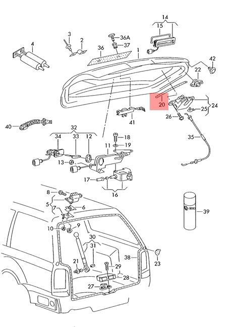 Original Dichtung selbstklebend links rechts VW Passat 4Motion ...