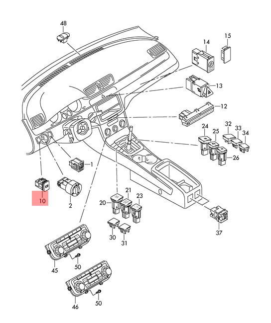 PARKING BRAKE SWITCH 3C0 927 225 C REH 3C0927225CREH for VW Volkswagen Passat Automotive
