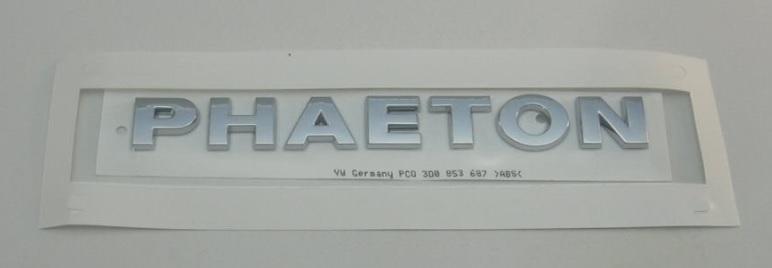 Genuine Chrome W12 Inscription VW Phaeton 3D 3D0853675S739