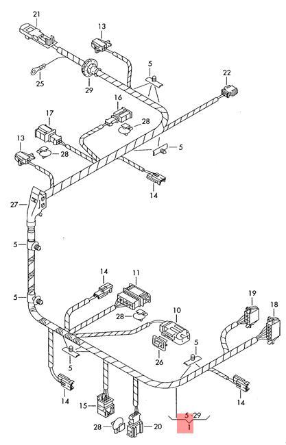 Genuine Vw Phaeton Wiring Harness For Electrically 3d0971079bh