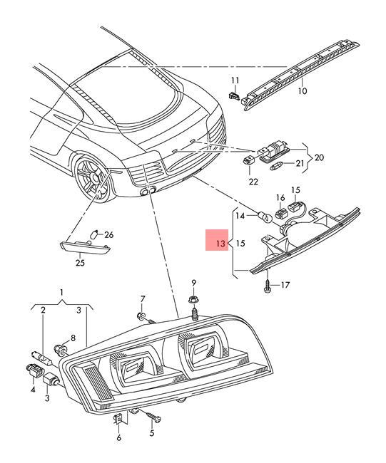genuine rear fog light audi r8 422 423 427 429 420945703 ebay Porsche 918 Spyder pictures