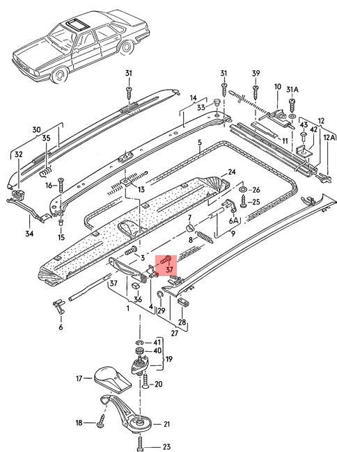 Genuine Vw Oval Head Bolt Self Locking Nos Audi Vw 100 Avant