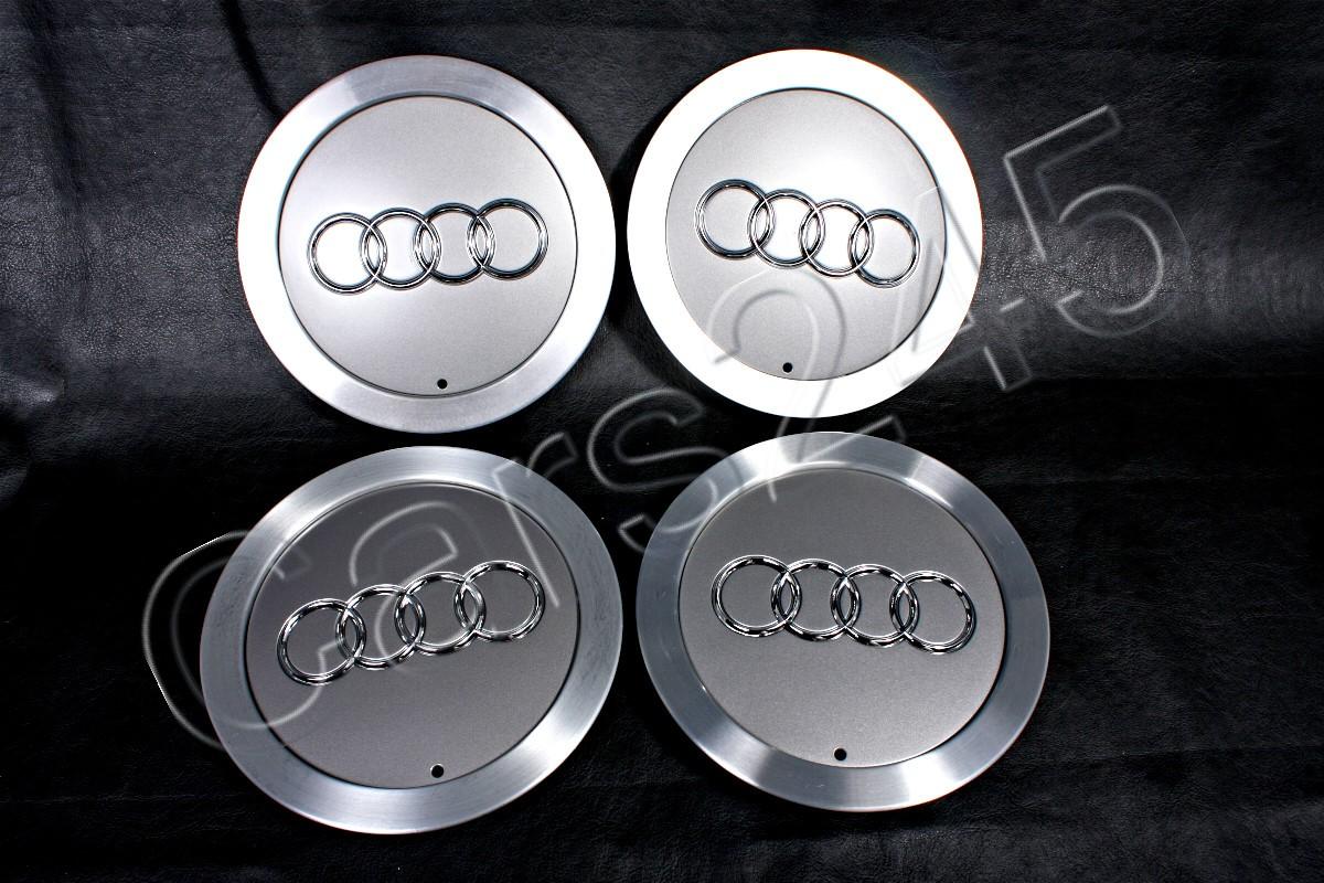 """Original de 15 /""""rueda de la aleación Centro Hub Avus Plata Tapas X4 encaja Audi A2 2000-2005"""