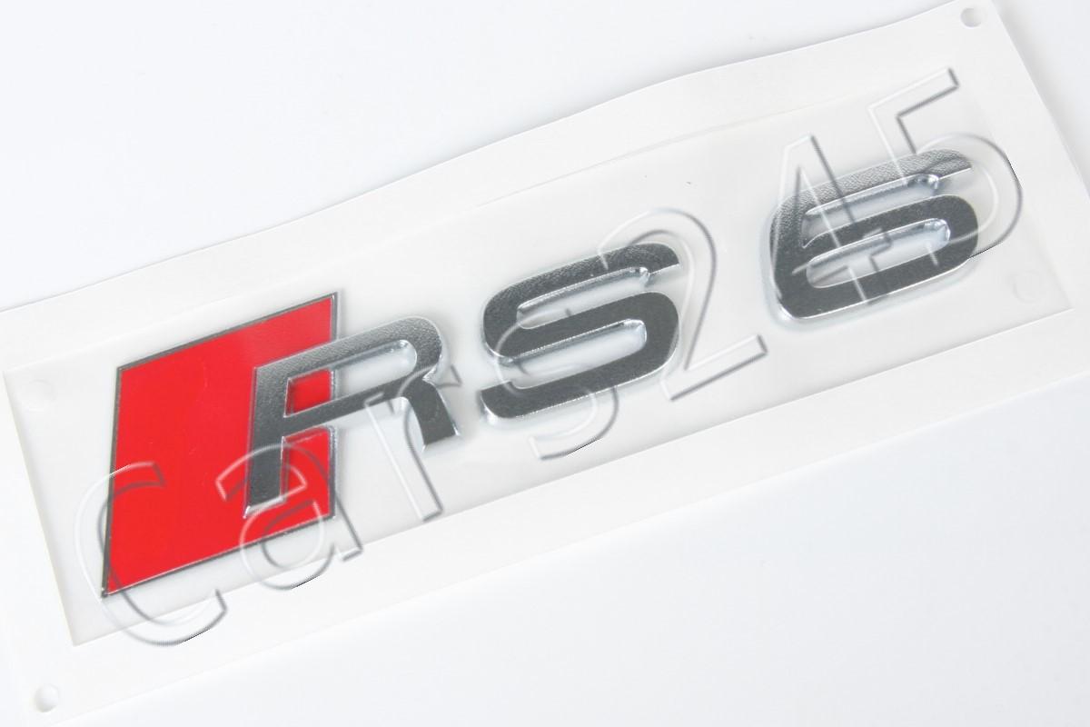 AUDI RS6 Rear Emblem GENUINE #4B08537402ZZ