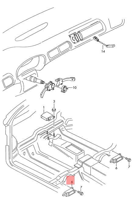 Genuine Lateral Acceleration Sensor Crashsensor Audi A6 Avant