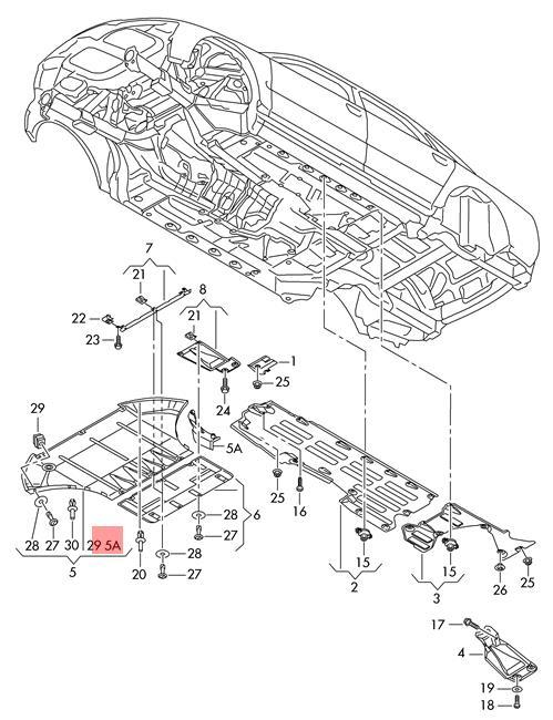 Genuine Wheel Spoiler Right Front Audi A8 S8 Quattro 4e0853888b