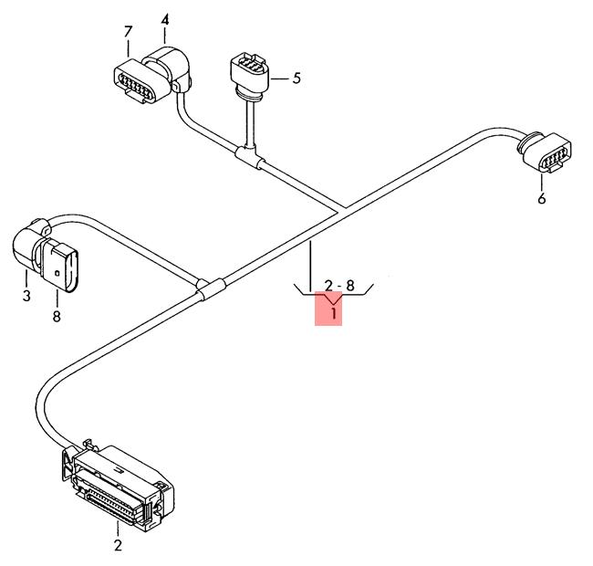 Genuine Audi A6 Allroad Qu  Adapter Wiring Set For Reducing Agent 4g0971765e