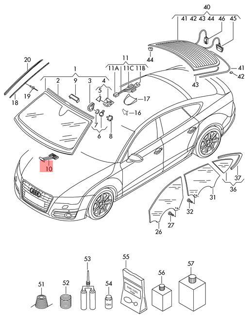 Genuine Setting Aid X5 Audi A6 Allroad Qu Quattro Avant S6 A6l