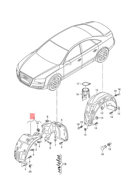 Genuine Wheel Housing Liner Plastic Right Right Front Audi