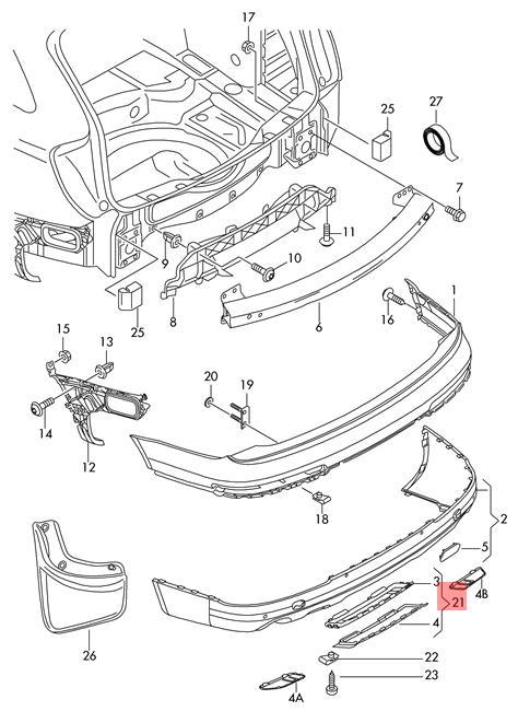 Genuine Satin Black End Cap Audi Q7 4l 4l0807819b41