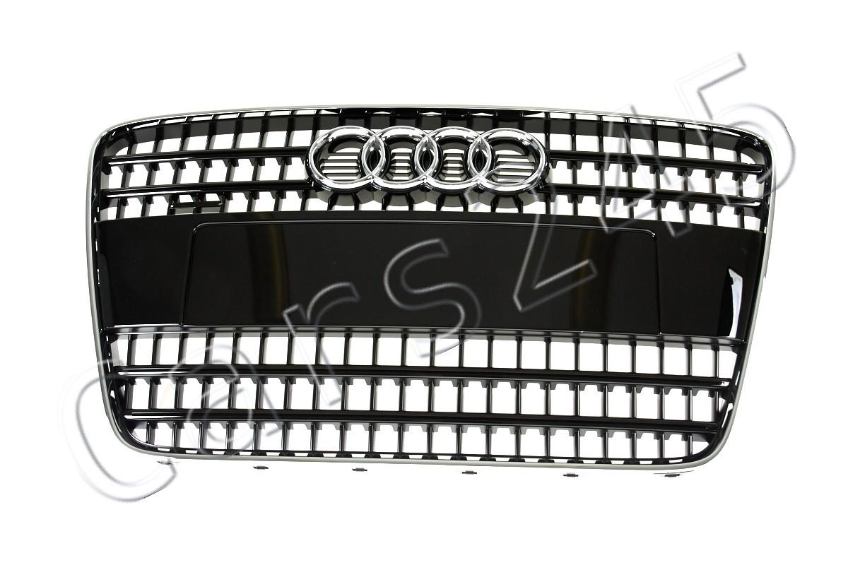 Genuine Audi Q7 4L 2007-2009 S Line Quattro Black and Chrome Front Grille