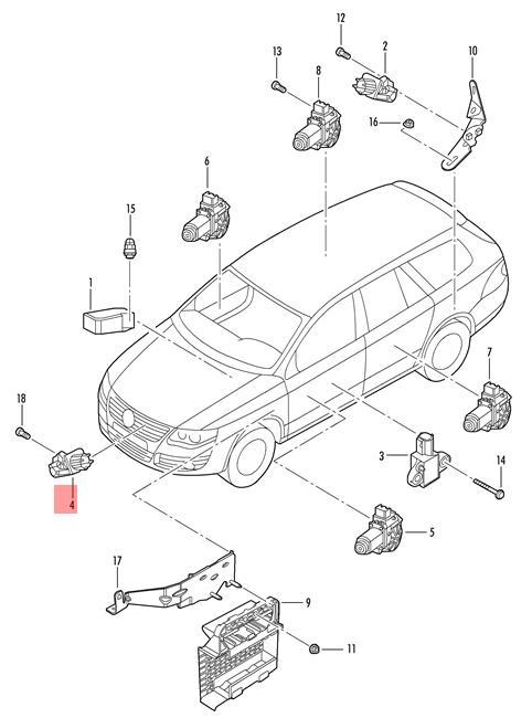 Genuine Crash Sensor For Airbag Front Vw Golf R32 Gti Rabbit