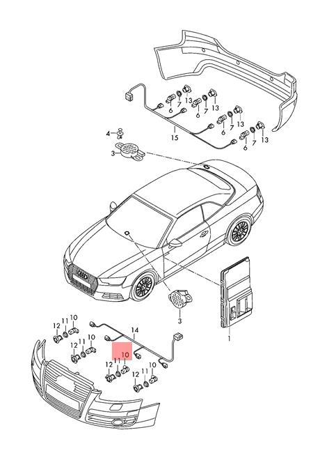 2014 on Genuine VW AUDI Q3 A7 A6 A3 SEAT SKODA PARKING SENSOR PDC RED 5Q0919275B