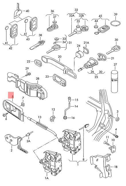 Genuine Inner Actuator Vw Lupo 3l Tdi 6e0837113amyt