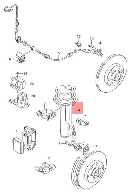 Genuine Vw Lupo 3l Tdi Wiring Harness For Speed Sensor