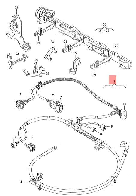 Genuine Vw Lupo 3l Tdi Wiring Set For Engine 6e0971349p