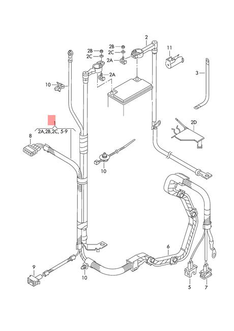 Genuine Vw Lupo 3l Tdi Wiring Harness For Battery