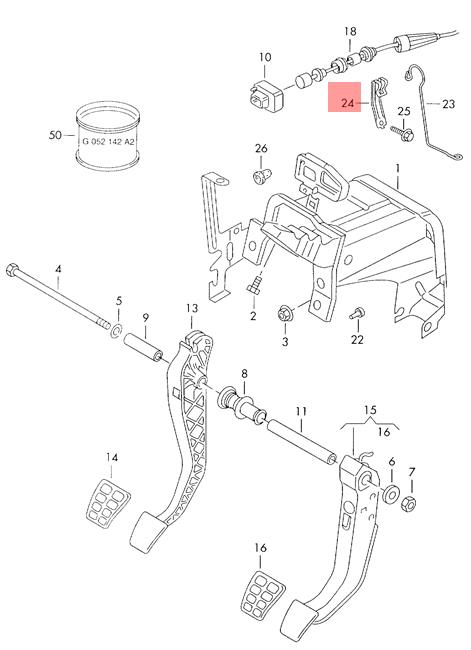 Genuine Bracket For Clutch Cable Vw Seat Lupo 3l Tdi