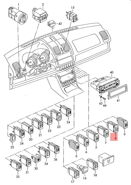 Genuine Vw Lupo 3l Tdi Switch For Fabric Sliding Roof