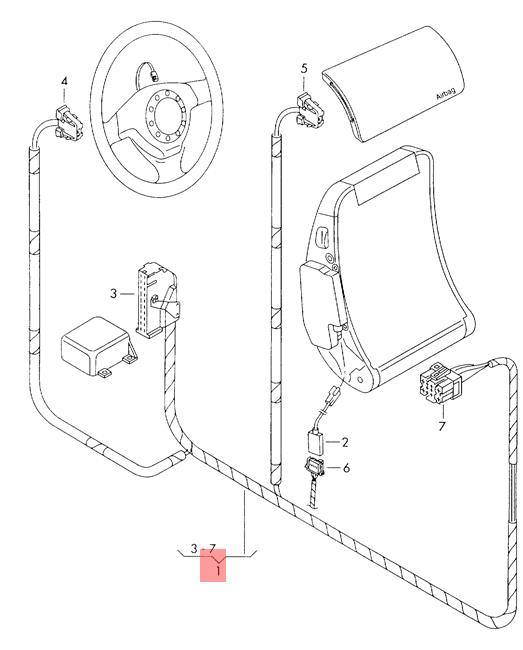 Genuine Seat Vw Arosa Lupo 3l Tdi Airbag Wiring Harness 6x0971581d