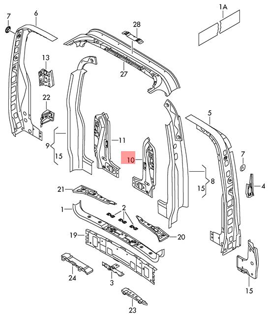 Lt Transporter Cover 7E08055839B9 Genuine VW Campmobile Typ2 Transp