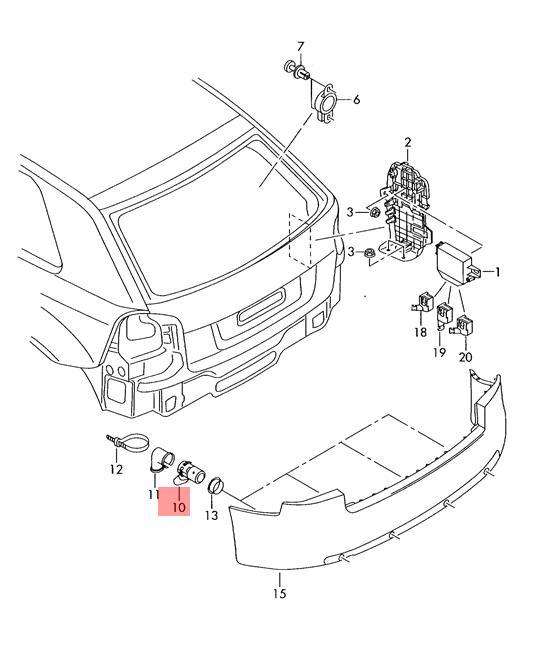 Genuine Sensor Audi A4 S4 Cabrio Quattro Rs4 8e 8ec 8ed