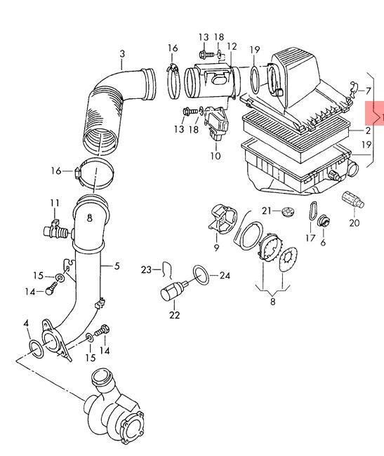 Genuine Volkswagen Air Filter Nos Vw Seat Sharan Syncro 4motion