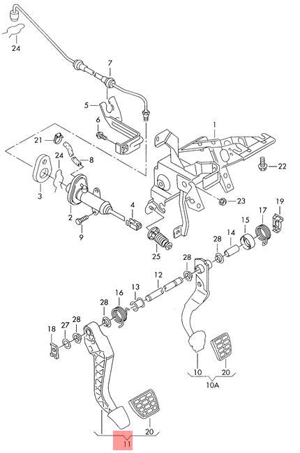 Genuine Vw Clutch Pedal Nos Vw Seat Sharan Syncro 4motion Alhambra