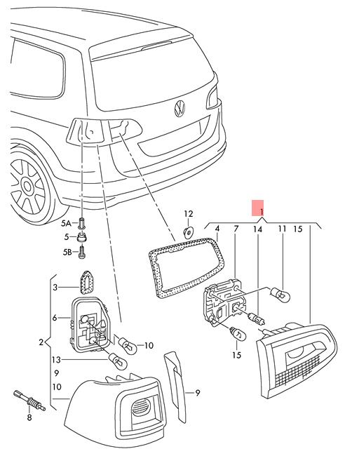 Genuine-Tail-Light-Rear-Lamp-Inner-O-S-SEAT-Alhambra-7N5945094G