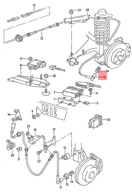 NEW Audi 80 90 Quattro Wheel Speed Sensor 1989-1995 8A0-927-807-C 8A0927807C
