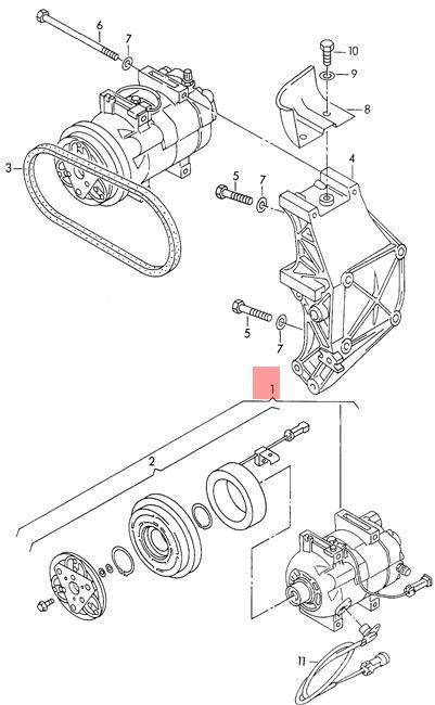 C Compressor Electro Magnetic Coupling Nos Audi Vw