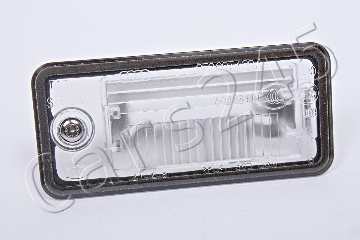 genuine license plate light lens lh audi a3 a4 b6 b7 a5 a6. Black Bedroom Furniture Sets. Home Design Ideas