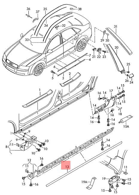 Genuine Grey Cover Trim Audi A4 Wagon S4 Rs4 Quattro 8e