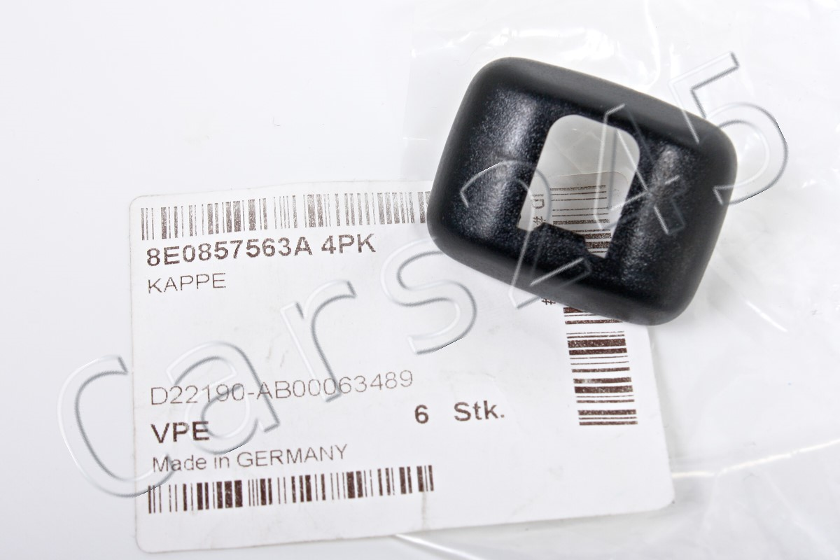GENUINE AUDI A4 A3 A5 TT Interior Sun Visor Hook Retainer Cover Black