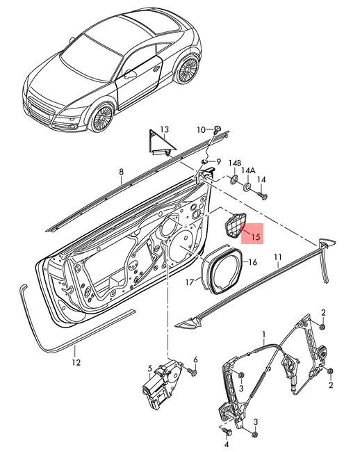 Genuine Cover Right AUDI Audi Ttrs Coupe Roadster Tt Tts 8J0853172A