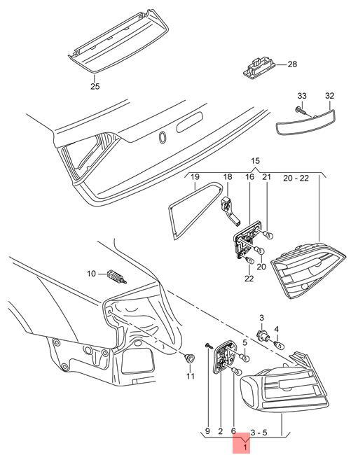 Genuine Led Tail Light Rear Lamp Left Audi A4 Allroad Quattro