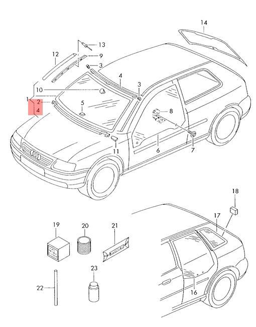 Genuine Cover Trim Upper Audi A3 S3 Sportback Lim Quattro