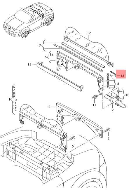 Genuine Toothed Belt Audi Tt Coupe Roadster 8n 8n7862997
