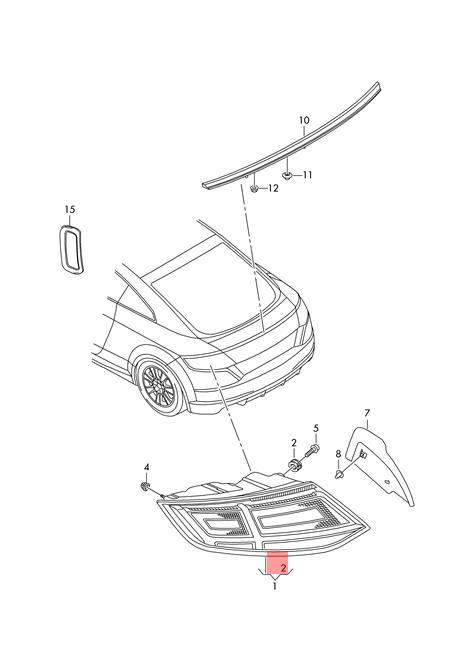 Genuine Tail Light Rear Lamp Adjusting Element Audi 8s0945181