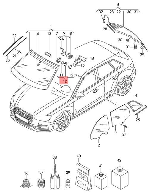 Genuine Sensor For Rain And Light Recognition Audi A1 A3 Cabriolet