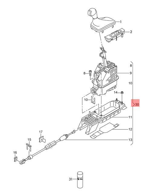 Genuine Selector Mechanism Lhd Audi A3 S3 Sportback Lim  Quattro  8v1713023b