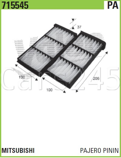 1999 MITSUBISHI Pajero Pinin Particulate Cabin air filters PAIR x2