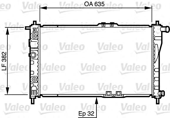 Admirable Valeo Engine Cooling Radiator 732483 Fits Daewoo Cielo Nexia Sedan Wiring Digital Resources Talizslowmaporg