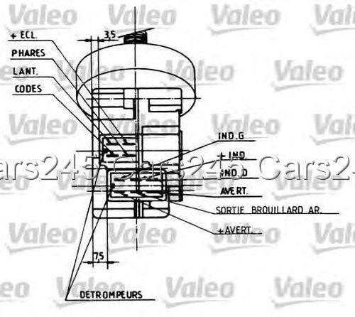peugeot 405 column switch valeo horn lighting turn signal lever 1987
