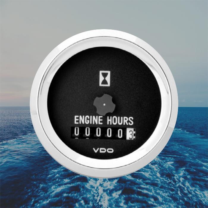 VDO    Ocean Line Engine    Hour       Meter       Gauge       Marine       Boat    52mm 2  Black N03110502   eBay