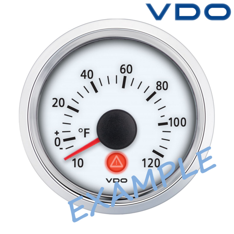 Vdo Viewline Outside Temperature Gauge 52mm 2 25 50c White A2c59510032 Ebay